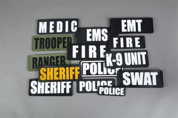 Identification panels for first responders